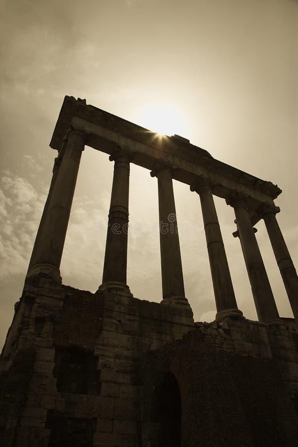Ruínas romanas do fórum, Roma, Italy. imagens de stock royalty free