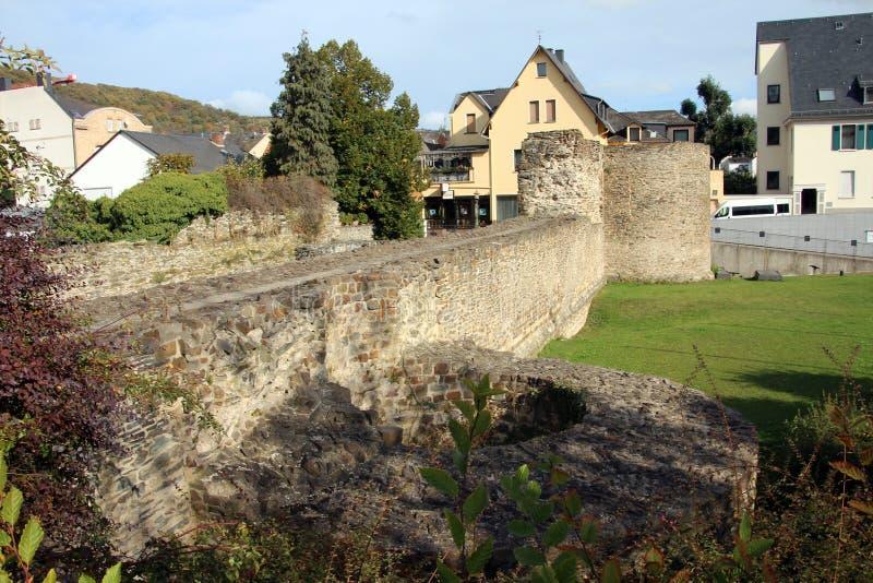Ruínas romanas em Boppard fotos de stock royalty free