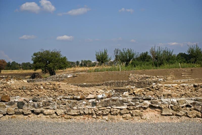 Ruínas romanas, Ulpiana, Kosovo imagens de stock