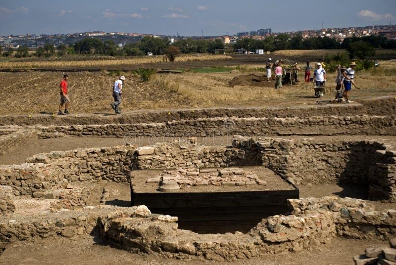 Ruínas romanas, Ulpiana, Kosovo imagens de stock royalty free