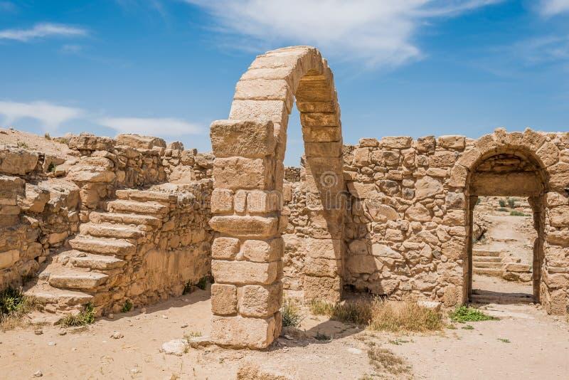 Ruínas romanas, Um AR-Rasas, Jordânia fotos de stock royalty free