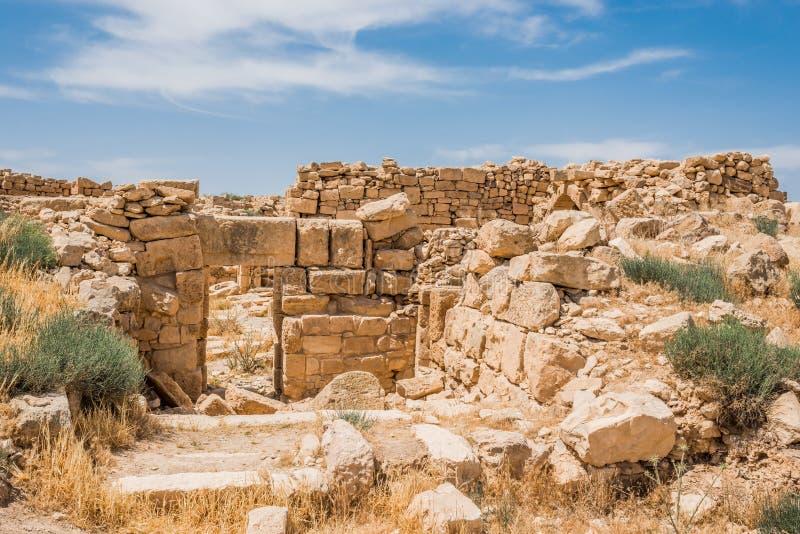 Ruínas romanas, Um AR-Rasas, Jordânia fotografia de stock