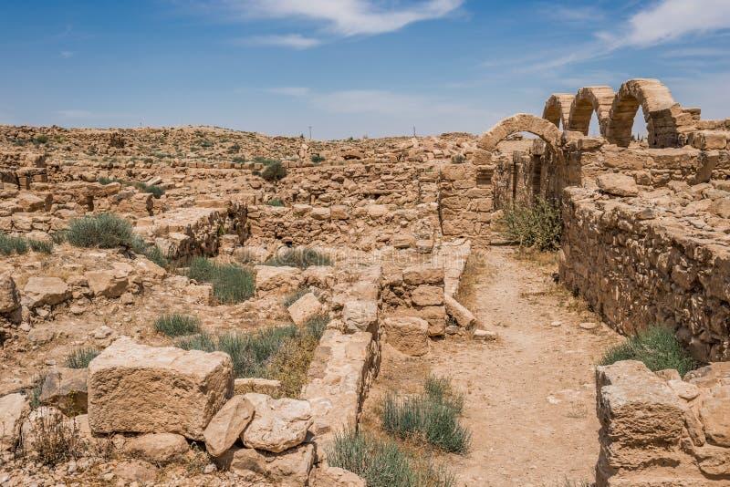 Ruínas romanas Um AR-Rasas Jordânia foto de stock