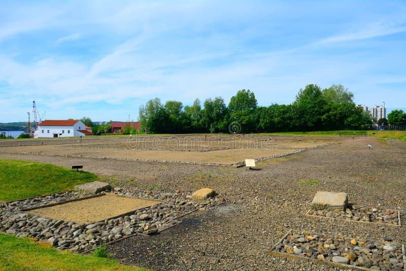 Ruínas romanas, Wallsend, Inglaterra imagem de stock royalty free