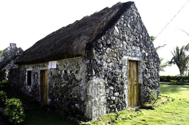 Ruínas velhas Batanes Filipinas das casas de Ivatan fotos de stock royalty free