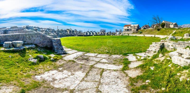 Ruínas velhas na Croácia, Salona imagens de stock royalty free