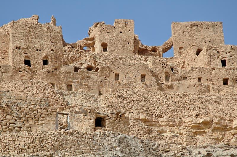 Ruïne in Chenini (Tunesië) stock afbeelding