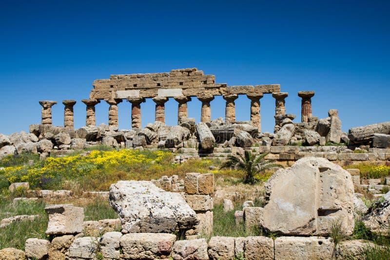 Ruïne van de Akropolis stock foto