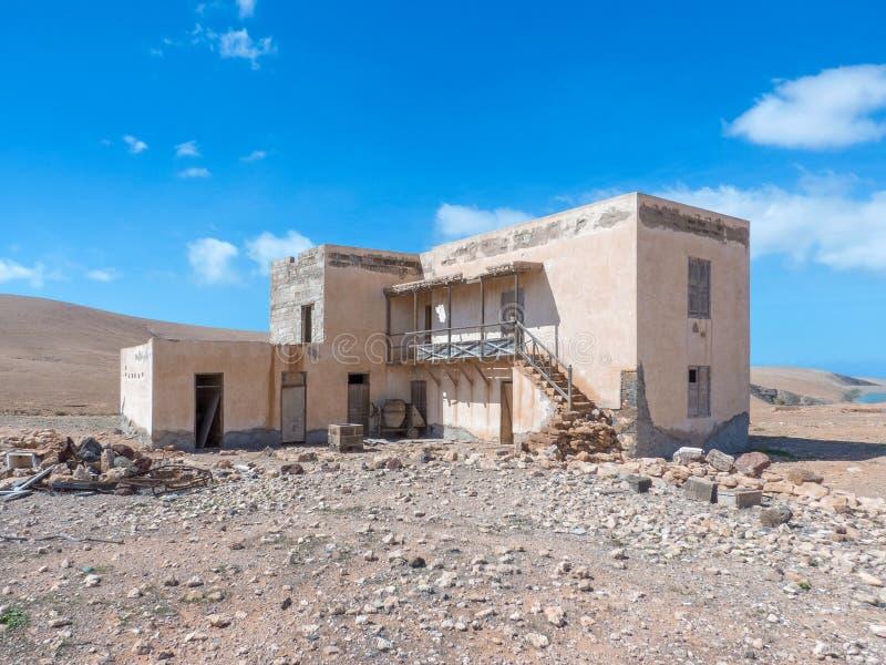 Ruïne van een huis in Fuerteventura stock fotografie