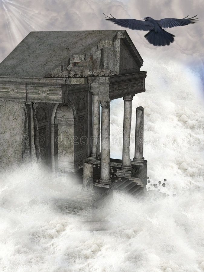 Ruïnes stock illustratie