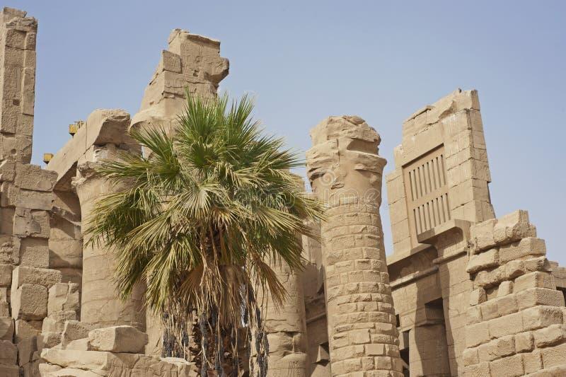 Ruïnes bij Tempel Karnak in Luxor royalty-vrije stock foto's