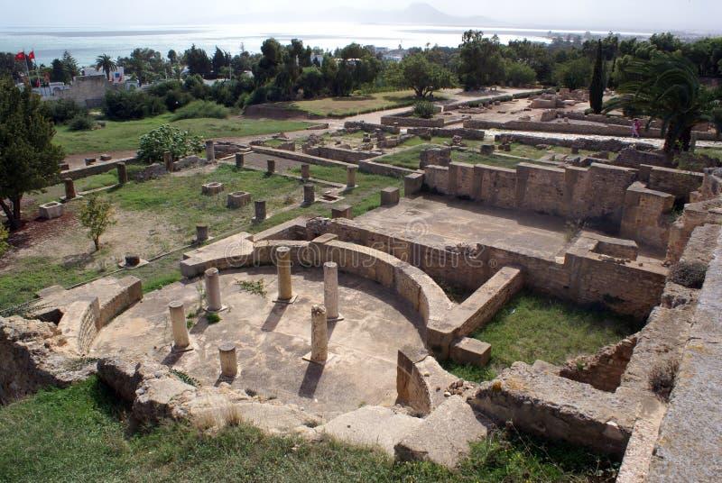 Ruïnes in Carthago royalty-vrije stock afbeeldingen