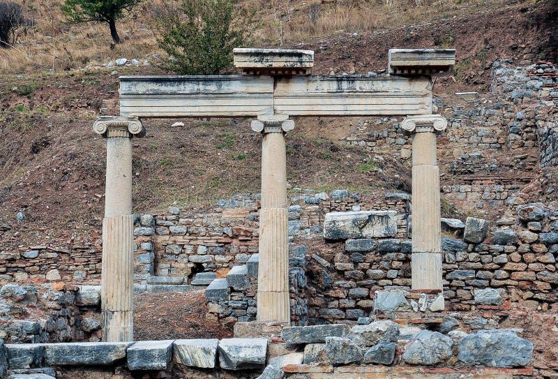 Ruïnes in Ephesus stock foto