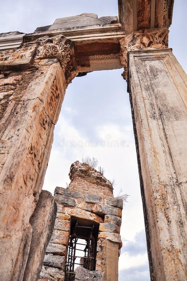 Ruïnes in Ephesus royalty-vrije stock afbeelding