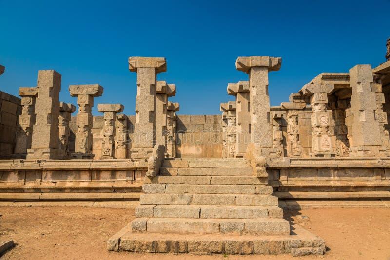 Ruïnes in Hampi royalty-vrije stock afbeelding