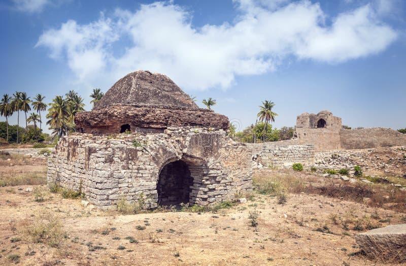 Ruïnes in Hampi royalty-vrije stock fotografie
