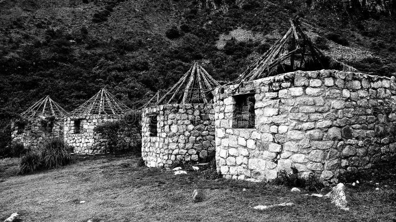 Ruïnes in het Nationale Park van Huascarà ¡ n stock fotografie