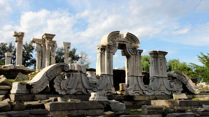 Ruïnes in het Oude Paleis van de Zomer stock fotografie