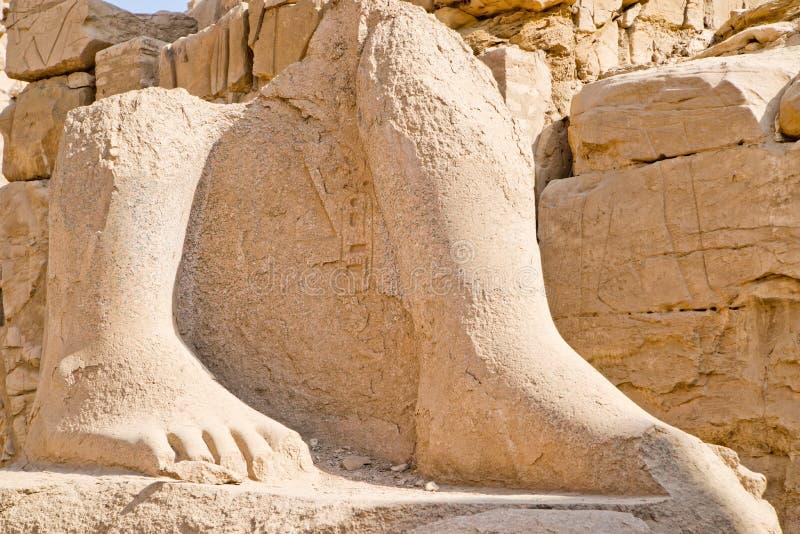 Ruïnes in Karnak (Luxor) Egypte. royalty-vrije stock foto