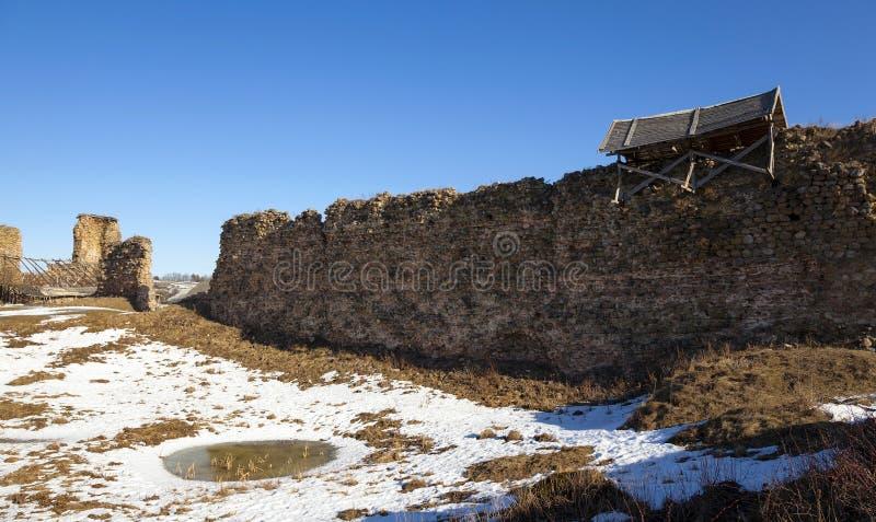 ruïnes Krevo Wit-Rusland royalty-vrije stock afbeeldingen
