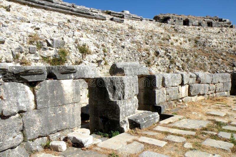 Ruïnes in Milet, Minder belangrijk Azië 6 royalty-vrije stock afbeeldingen