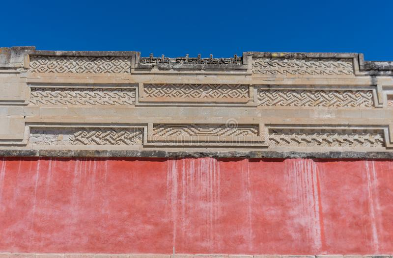 Ruïnes in Mitla dichtbij Oaxaca-stad Het centrum van de Zapoteccultuur in Mexico royalty-vrije stock foto