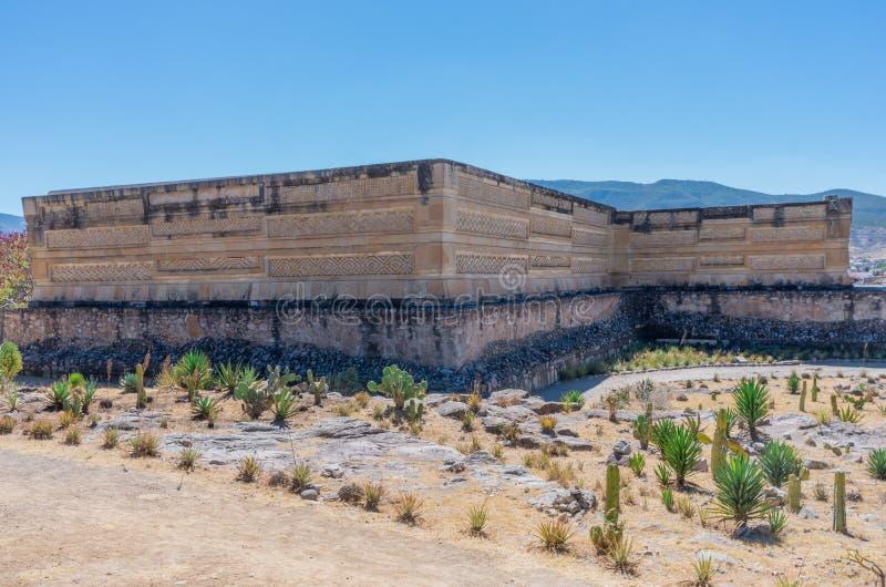 Ruïnes in Mitla dichtbij Oaxaca-stad mexico royalty-vrije stock afbeeldingen