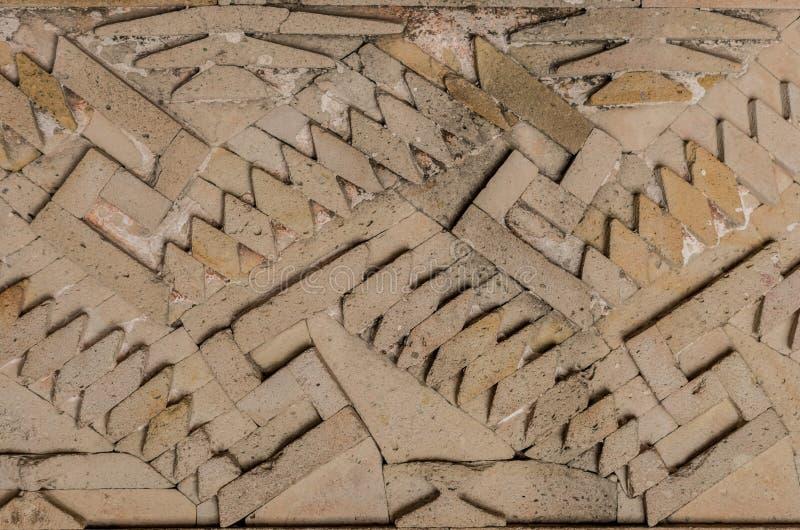 Ruïnes in Mitla dichtbij Oaxaca-stad mexico royalty-vrije stock afbeelding