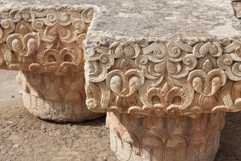 Ruïnes in Palais Gr Badii Marrakech Marokko royalty-vrije stock foto