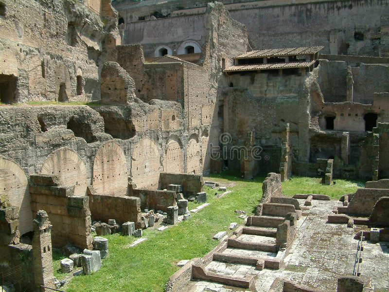 Ruïnes in Rome stock foto