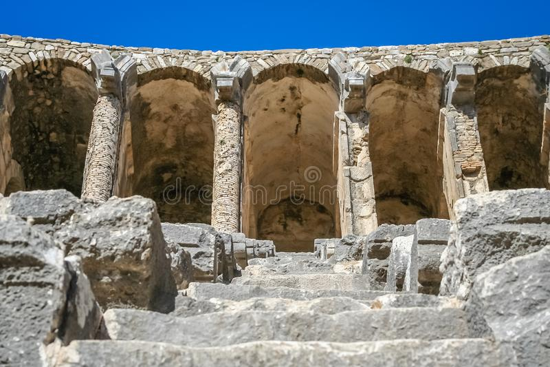 Ruïnes van Aspendos-theater royalty-vrije stock afbeeldingen