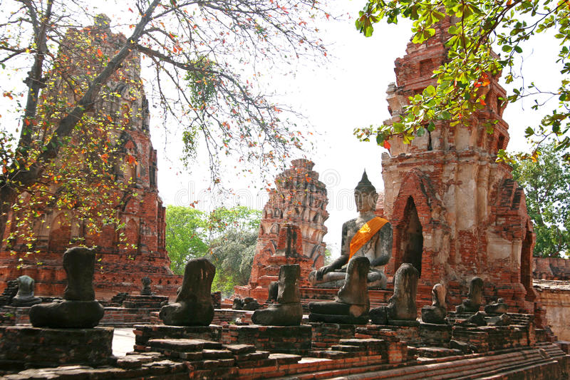 Ruïnes van Ayutthaya royalty-vrije stock foto's