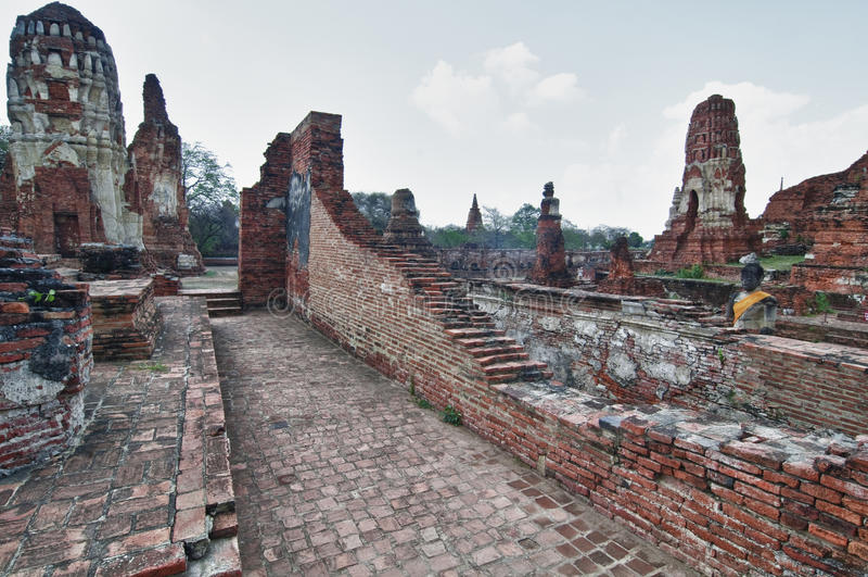 Ruïnes van Ayutthaya stock fotografie