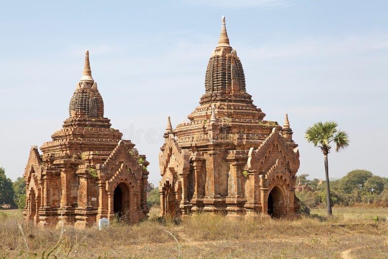 Ruïnes van Bagan, Myanmar stock foto