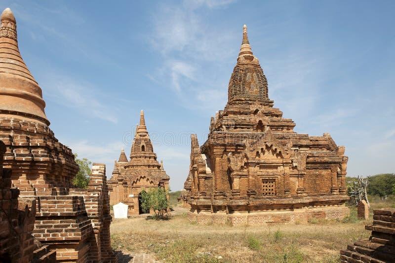 Ruïnes van Bagan, Myanmar stock foto's