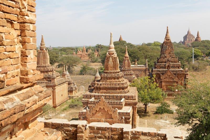 Ruïnes van Bagan, Myanmar royalty-vrije stock foto