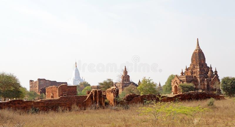 Ruïnes van Bagan, Myanmar royalty-vrije stock afbeelding