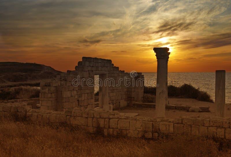 Ruïnes van Chersonese stock afbeelding