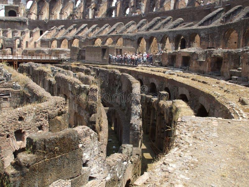 Ruïnes van colosseum royalty-vrije stock afbeelding