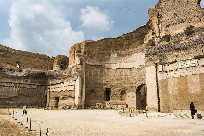 Ruïnes van de Baden van Caracalla - Terme Di Caracalla royalty-vrije stock afbeelding