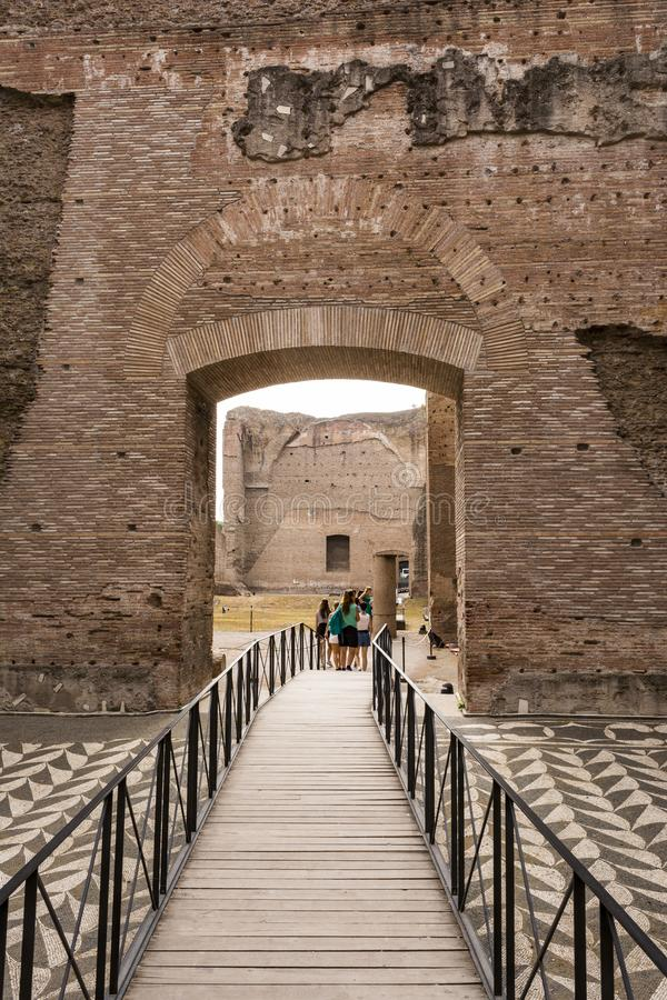 Ruïnes van de Baden van Caracalla - Terme Di Caracalla royalty-vrije stock foto