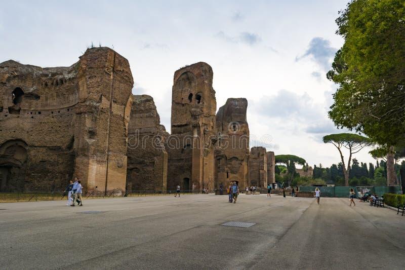 Ruïnes van de Baden van Caracalla - Terme Di Caracalla royalty-vrije stock fotografie