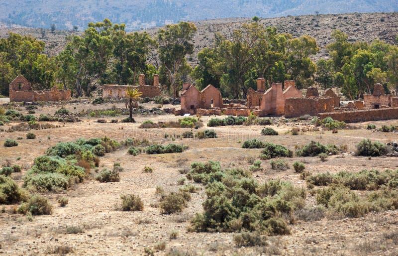 Ruïnes van de hoeve van ongedwongenheidskanyaka. Zuid-Australië royalty-vrije stock foto's