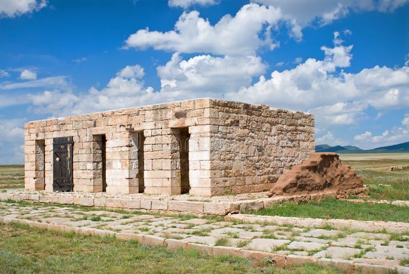 Ruïnes van de Oude Gevangenis bij de Unie van het Fort, New Mexico royalty-vrije stock foto's