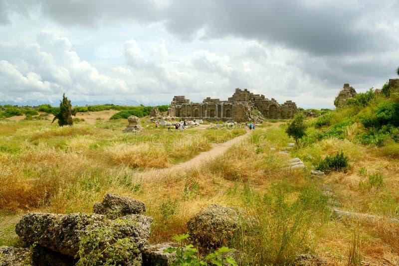 Ruïnes van de oude Griekse stad royalty-vrije stock foto