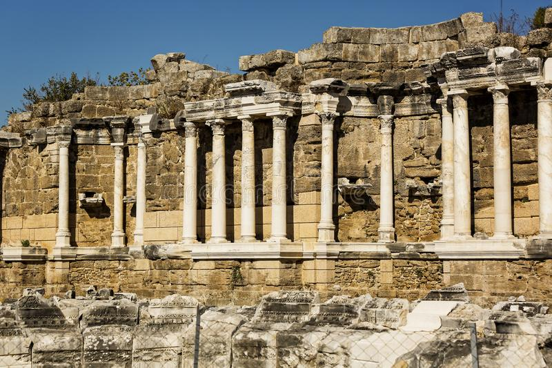 Ruïnes van de oude stad van Kant royalty-vrije stock afbeeldingen