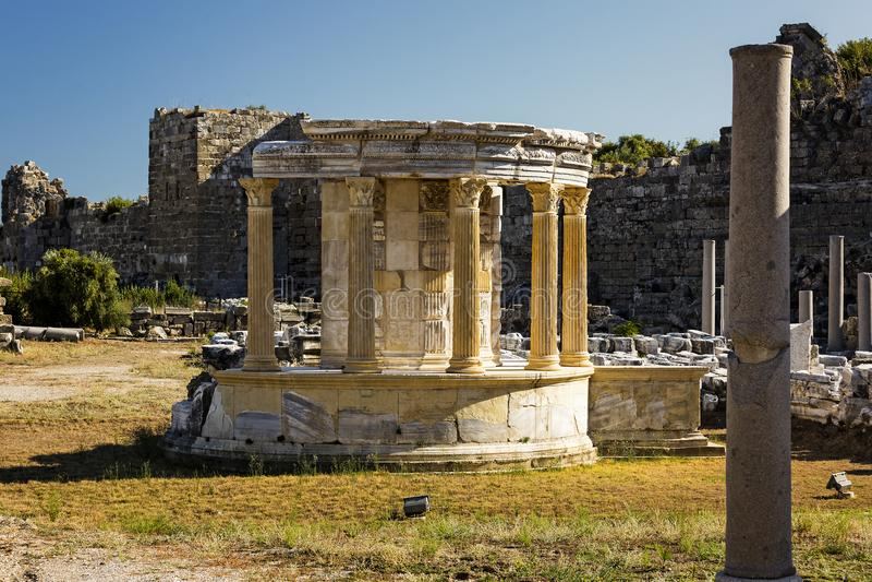 Ruïnes van de oude stad van Kant stock fotografie