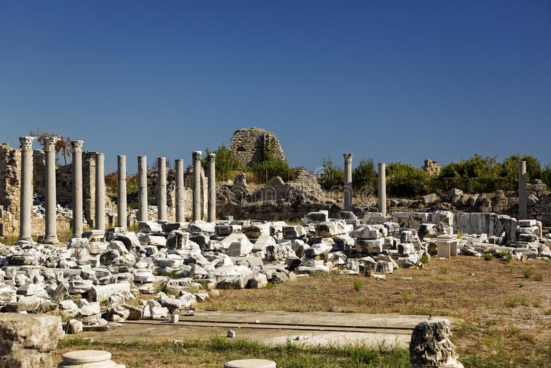Ruïnes van de oude stad van Kant stock foto's