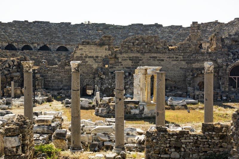 Ruïnes van de oude stad van Kant royalty-vrije stock afbeelding