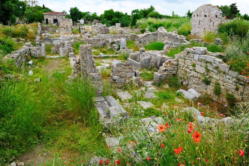 Ruïnes van de oude stad, Kant, Turkije royalty-vrije stock afbeelding